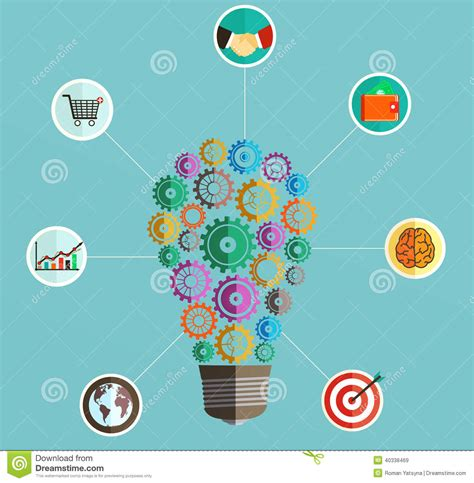 infographics template with a light bulb in the form of