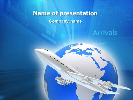 official air powerpoint template airway powerpoint template backgrounds 03079