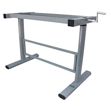 Manual Height Adjustable Standing Desk Base Frame Stand Table Top Stand Up Desk