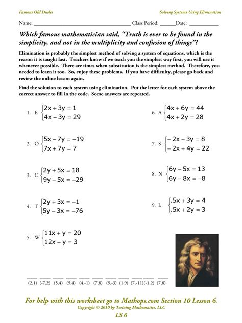System Of Equations Worksheets by Systems Of Equations Elimination Worksheet Deployday