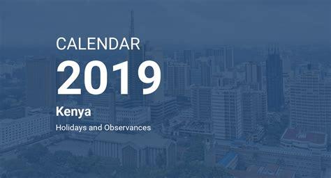 year  calendar kenya