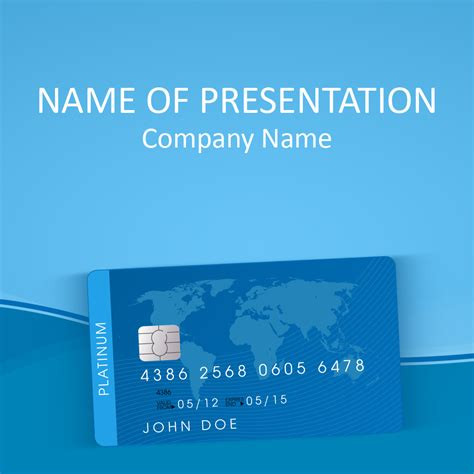 Credit Card Powerpoint Template Finance Powerpoint Templates Pinterest Template And Card Powerpoint Template