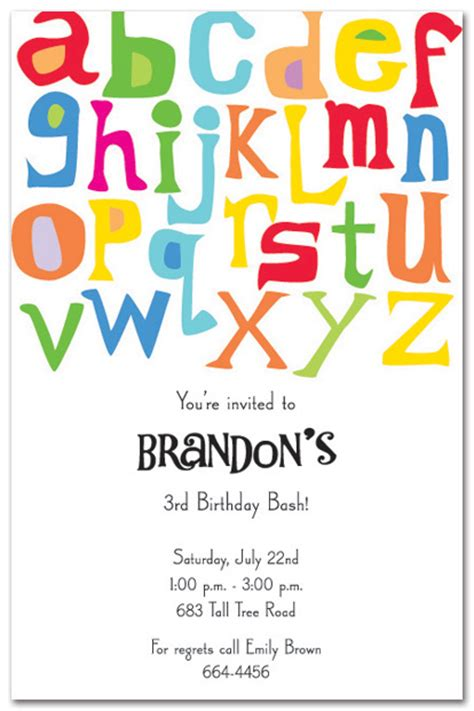 themed party letter a abc invitation parties pinterest alphabet party