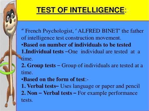 intelligence test intelligence test