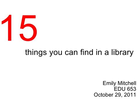 15 things you can find in a library