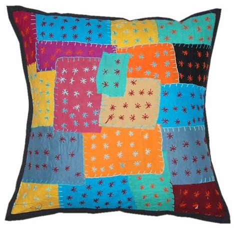 Handmade Pillow Covers - indian decor handmade cushion pillow covers traditional