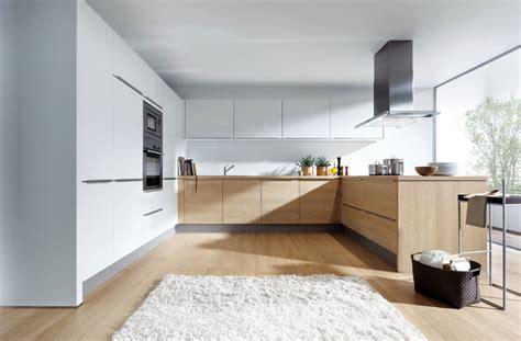light oak  matt white modern kitchen london