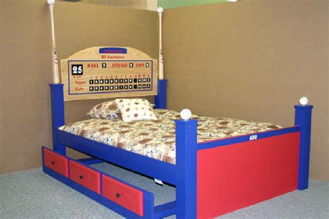 multi colored baseball bed custom by chris davis