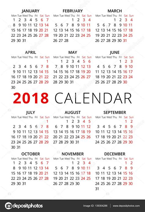 Calendario Semana Santa 2018 A 241 O 2018 Estilo Simple Texto Calendario La Semana Empieza