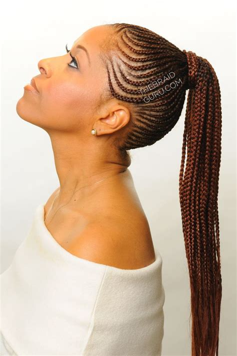african braids hairstyles pictures ponytail feed in cornrows in a ponytail braids by thebraidguru com