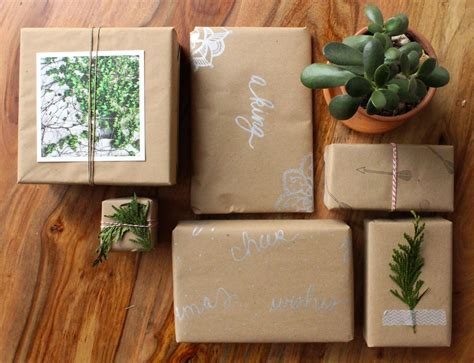 Craft Paper Wrapping Ideas - gift wrap ideas using brown craft paper simply gifted