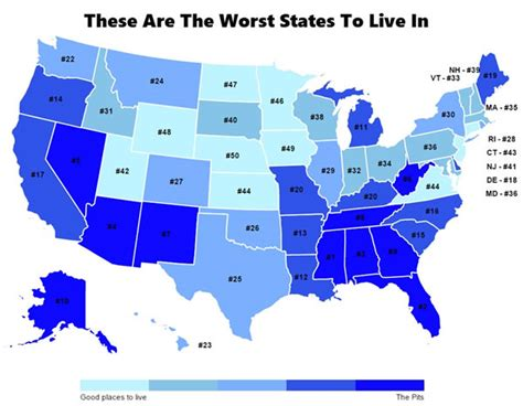 cheapest states to live states to live in do you live in these 10 worst states in