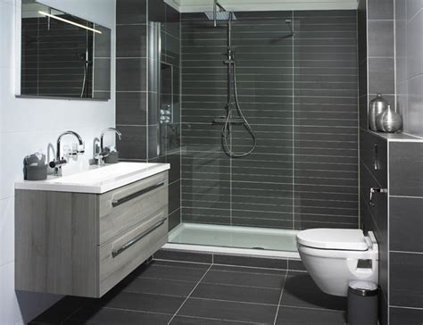Dark Grey Shower Tiles Bathroom Pinterest Tile Black Tile Bathroom Ideas