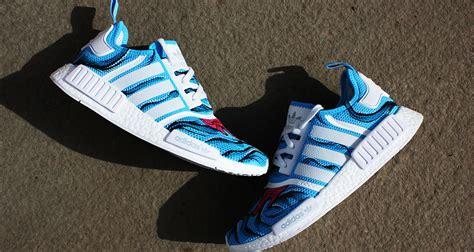 adidas custom adidas nmd quot aqua dripped quot custom by duane gavins jr