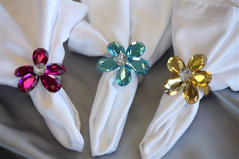 Brocade Home Decor by Crystal Flower Napkin Rings The Finishing Touch