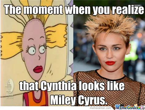 Cynthia Meme - cynthia from rugrats looks like miley cyrus by