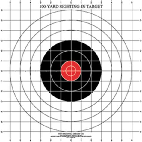 printable targets for zeroing sighting targets