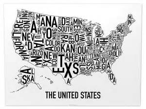 united states map 24 quot x 18 quot classic black white poster