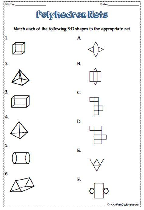 www geometry 3 d shapes worksheets free printables