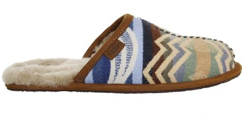 pendleton slippers ugg scuff pendleton slippers in brown lyst