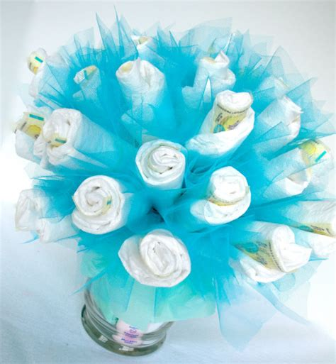 Send Flowers Without Vase Items Similar To Diaper Bouquet Blue Baby Boy Diaper