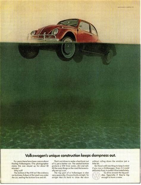 volkswagen thing in water 235 vwビートルの広告 135 創造と環境