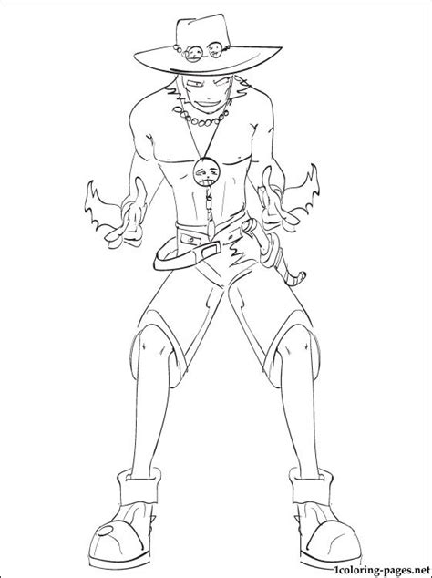 Coloring page Portgas D. Ace One Piece | Coloring pages