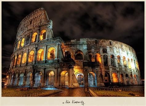photographing the roman colosseum at night