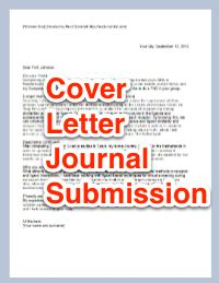 Sle Cover Letter For Journal Article by Cover Letter For Scientific Journal