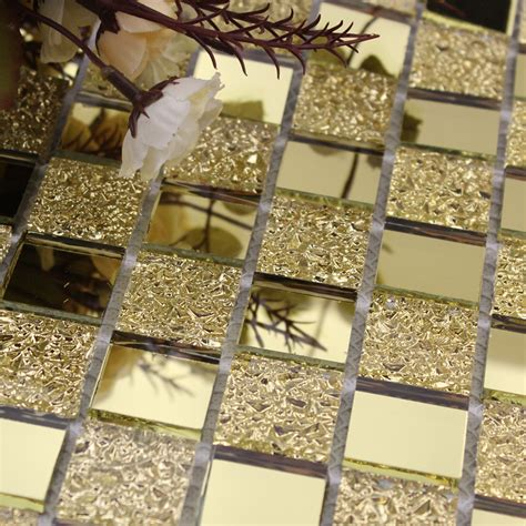 metal mosaics tile for bathroom backsplash home interiors mirror tile backsplash gold crystal glass mosaic wall
