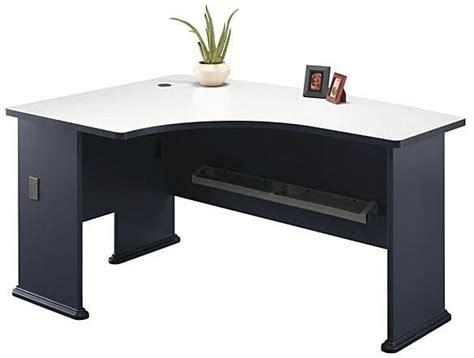 bush office desk bush wc84833 left l bow desk office furniture finish white spectrum dimensions 59 50 quot w x