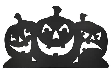 Home Made Halloween Decoration black pumpkin silhouettes 23x40 lawn decoration 319871