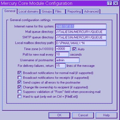 configure xp mercury mail configuring mercury mail transport system to run a lan