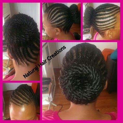 flat twist and bun style flat twists in a bun natural hair style my work