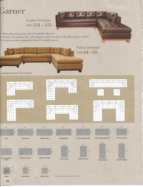 arhaus garner sectional arhaus garner sectional configurations living room