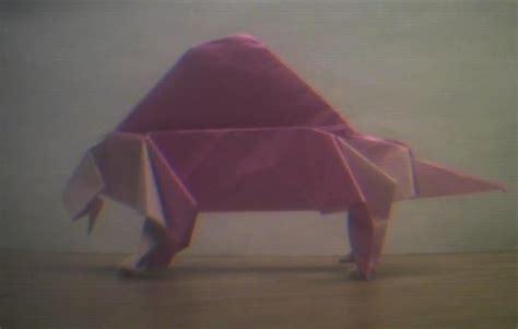Origami Dimetrodon - an origami dimetrodon