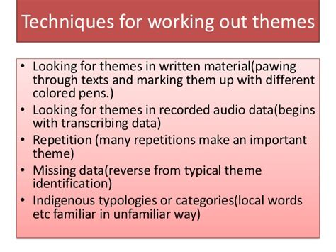 creating themes qualitative research analyzing observational data during qualitative research