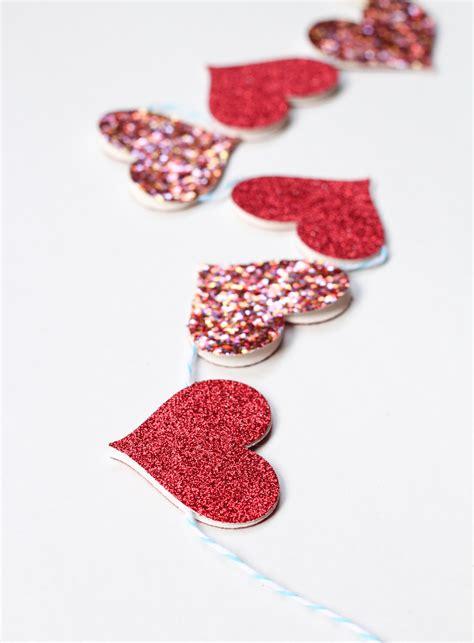 garland hearts diy garland the crafted