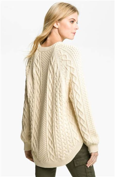 fisherman cable knit sweater michael michael kors fisherman cable knit sweater in beige