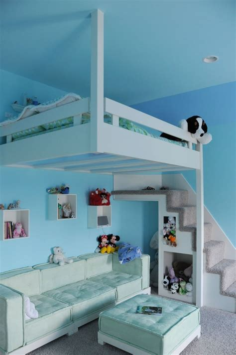 Handmade Built In Custom Loft Bed By Yoder Custom Design Custom Rooms