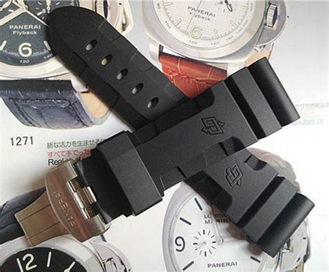 comfortable watch band 24mm 26mm watchband metal deployment silicone rubber watch