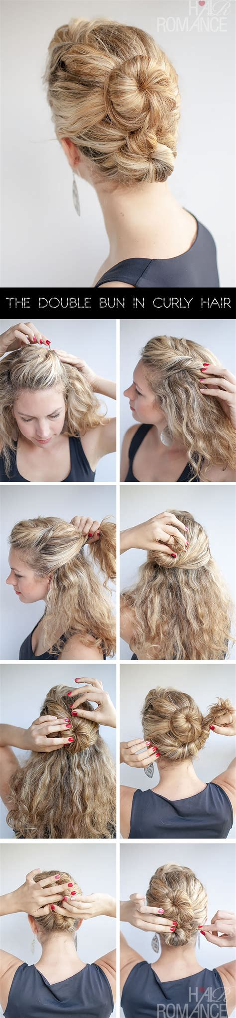 hairstyles curly hair steps curly hairstyle tutorial the double bun hair romance
