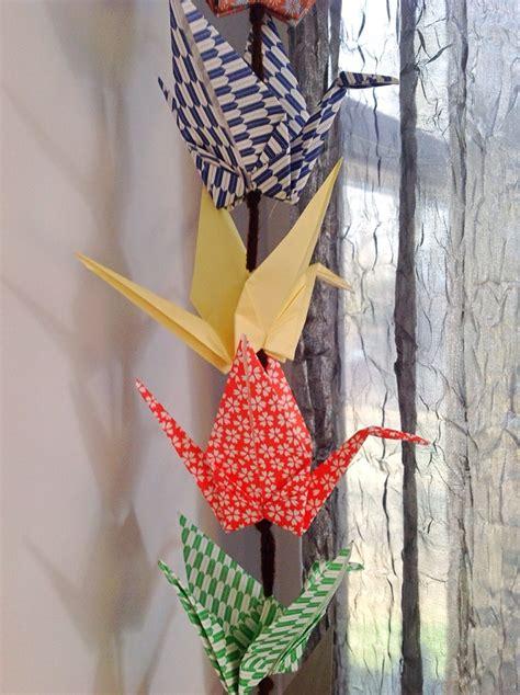 Origami Crane Chain - paper crane chain hoopes park studios