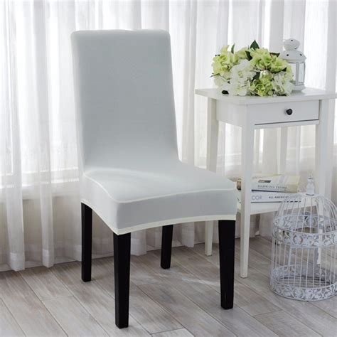 kitchen decor consideration dining room chair seat elegant jacquard fabric solid color stretch chair seat
