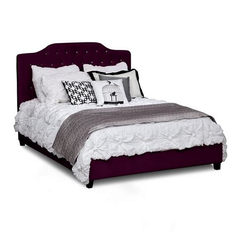 purple beds valerie queen bed purple american signature furniture