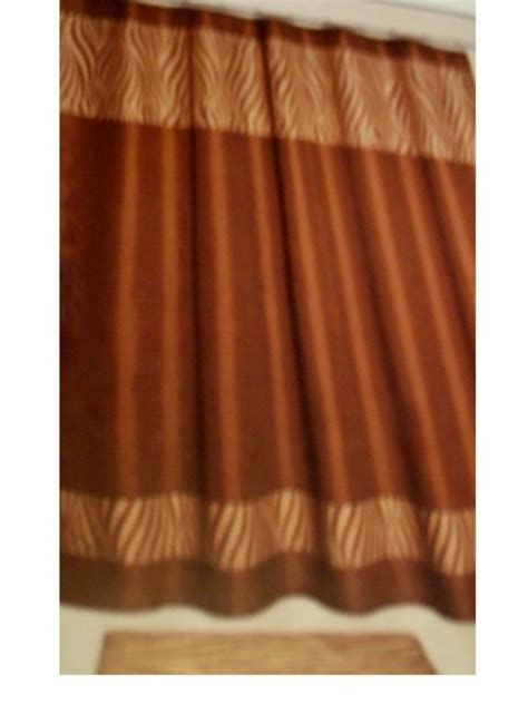 brown and beige shower curtain beige brown zebra stripe fabric shower curtain