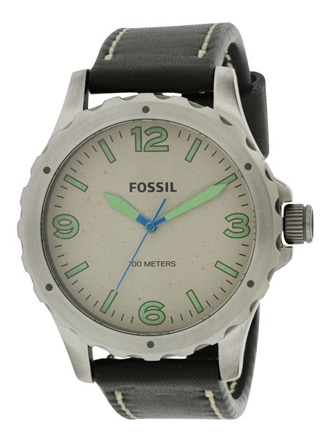 Fossil Original Jr 1436 Leather Stainless Steel fossil nate leather mens jr1461 796483079656 ebay