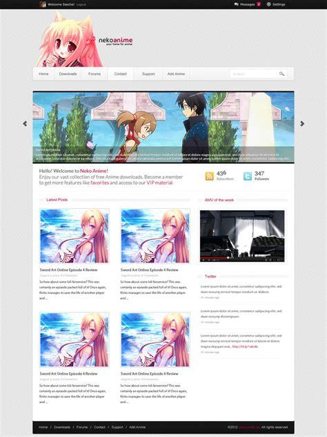 4 Anime Website by Anime Webdesign Neko Anime V2 By R3xx0n On Deviantart