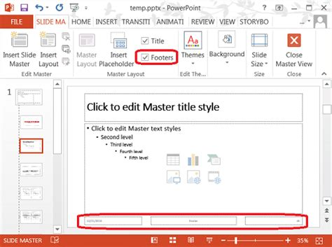adding layout to powerpoint tools add or change footer on a layout in powerpoint