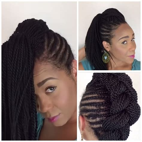 senegalese twist with shaved side mohawk senegalese twists mohawk 40 super chic senegalese twist